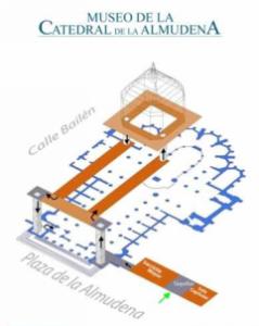 Plano del museo de la catedral de la Almudena
