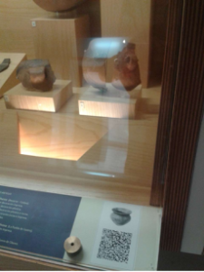 QR en museo