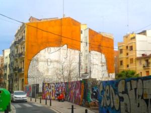 Grafiti fachada